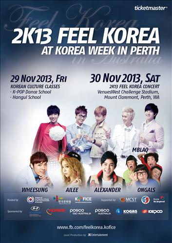 11.29, 30 Feel Korea at Korea Week in Perth